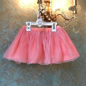 3T Toddler Girls Gymboree Peach Sparkly tutu skirt